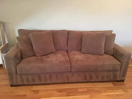 ad crate and barrel sofa couch
