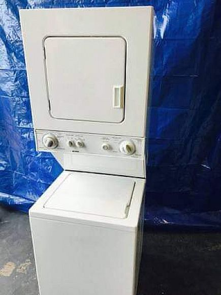 ad 24 inch stackable washer and dryer, kenmore brand! 27 inch wide stackable available too