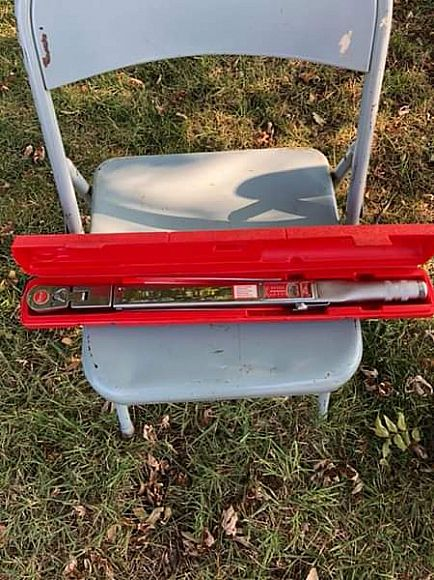 ad snap-on torque wrench. model tqfr-250a. like new.