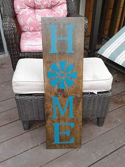 ad painted home porch sign