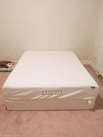 ad queen size mattress and box - like new