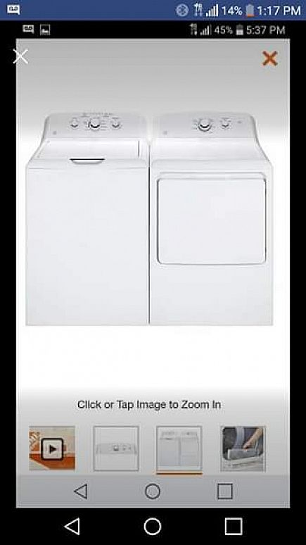 ad ge washer & dryer set brand new in the box!