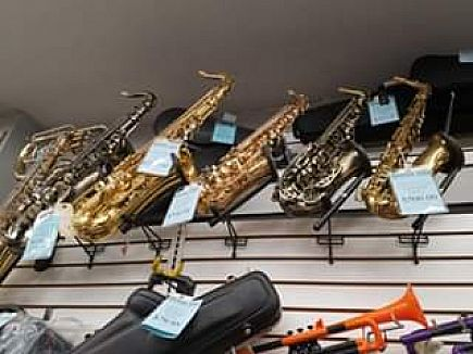 ad new and used saxophones