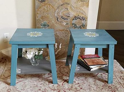 ad pair of end tables