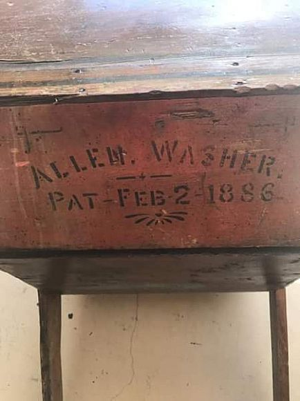 ad antique washing machine-1886-awesome project piece!