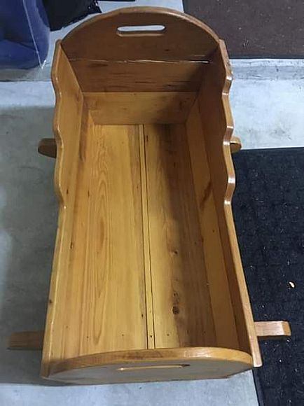 ad solid wood baby cradle