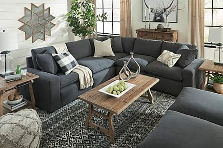 ad new charcoal modular down blend sectional