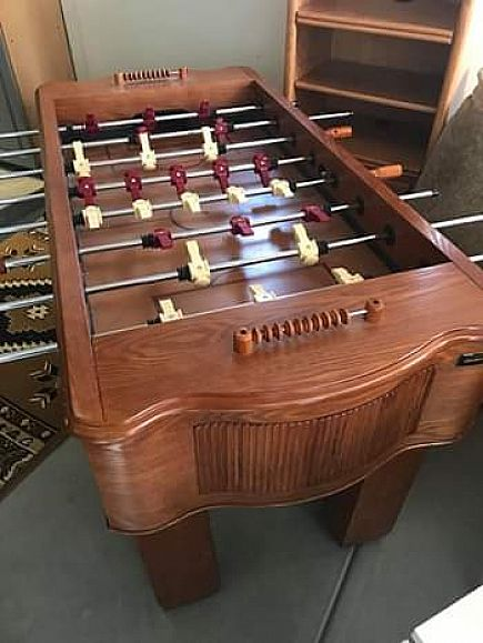 ad fooze ball table oak