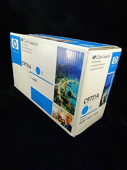 ad hewlett-packard hp color laserjet printer cartridge c9721a cyan blue *new sealed