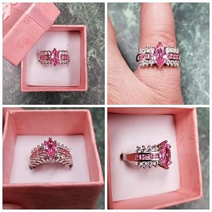 ad size 6 marquise pink ring