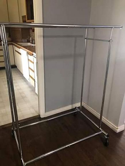 ad double rolling clothes rack