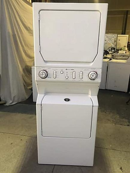 ad maytag admiral large capacity stackable washer dryer