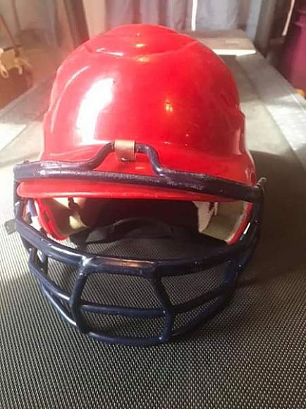 ad rawlings baseball youth batting helmet 6 1/2 - 7 1/2 with face cage