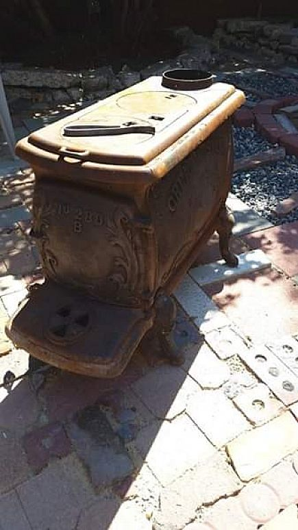 ad antique great western logwood stove model no 280-b