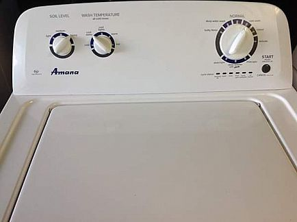 ad one year old amana clothes washer