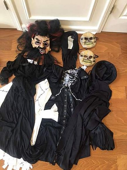 ad halloween ghouls monster masks capes