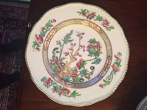 ad coalport indian tree luncheon plate in perfect condition!
