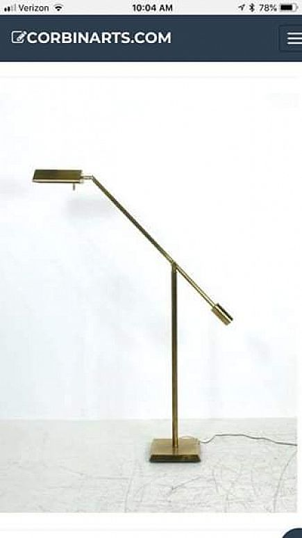ad pair of brass pharmacy lamps floor lamps task lamps restoration hardware style