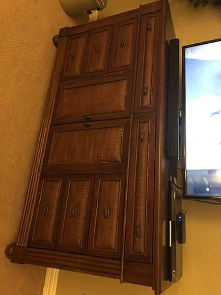 ad bedroom set (queen bed frame, dresser and armoire)