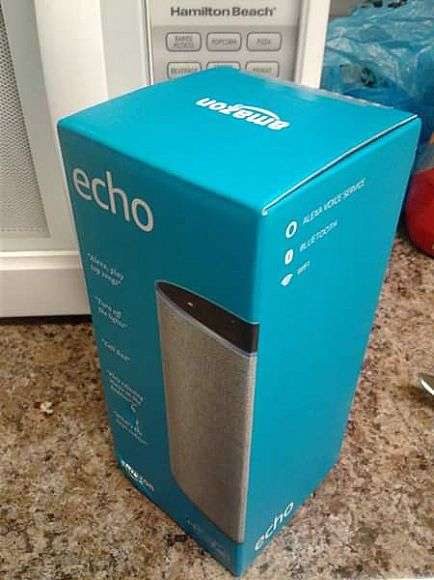 ad amazon echo (gray..gen2) alexa, bluetooth, wifi speaker