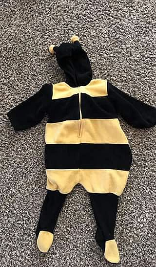 ad cute bumble bee costume 6-9 months