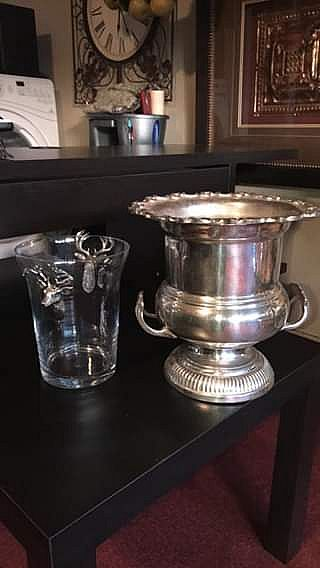 ad pair of champagne and ice buckets