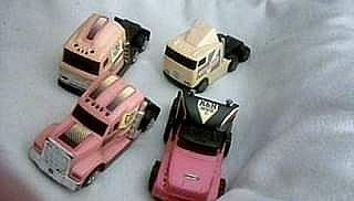 ad miniature truck semi cabs 5.5 inches long tonka,buddyl,remco.1990