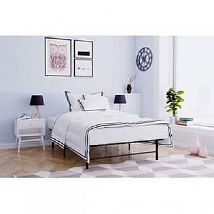 ad twin platform bed and mattress $100 sale item