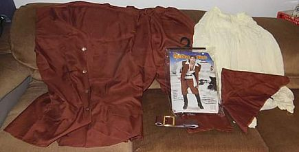 ad caribbean pirate adult halloween costume for men size full figure (44-52) rg costume