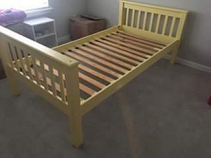 ad twin size bed frame