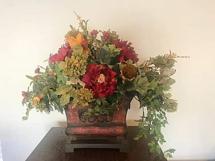 ad floral arrangements and greenery