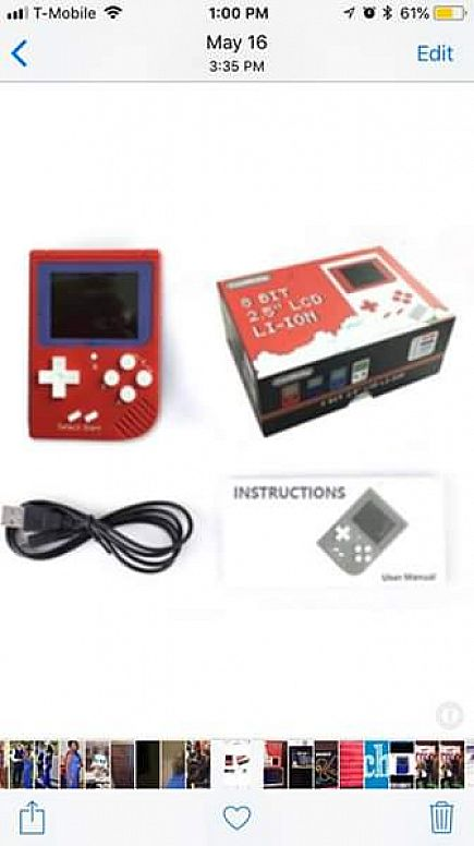 ad portable nes color portable gaming model 128 games preloaded