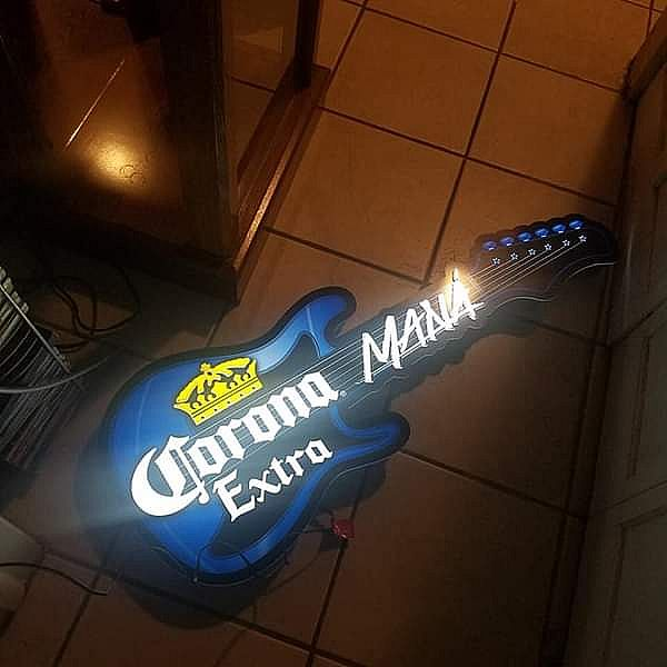 ad corona extra promotional bar light sign prototype mana band man cave beer collectable