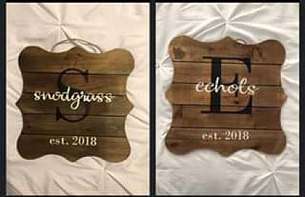 ad hand painted wooden signs