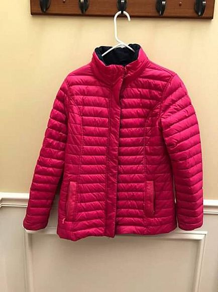 ad vineyard vines pink mountain weekend quilted nylon goose down jacket m medium