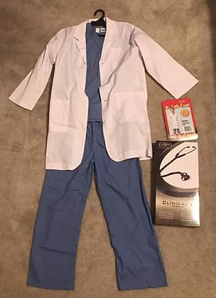 ad kids doctor costume