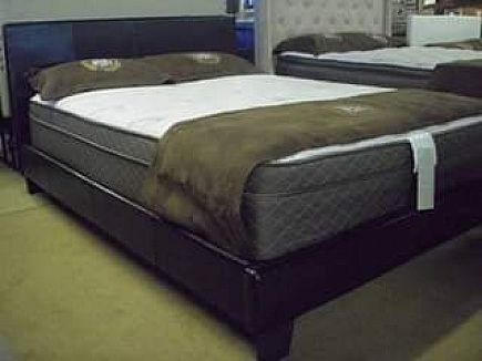 ad *overstock* - full espresso bed frame available - brand new!