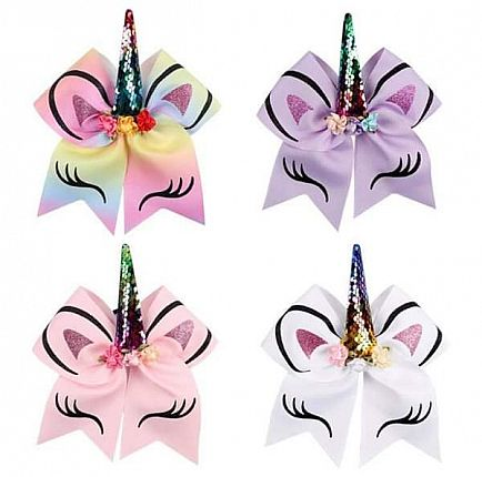 ad unicorn beautiful different size 7inches bows