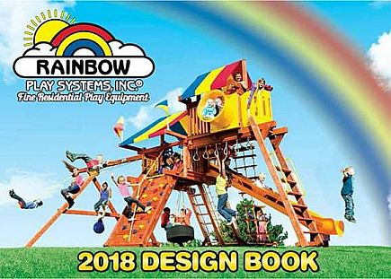 ad free catalog for holiday planning - rainbow play, springfree, cacoon, big green egg, basketball hoop