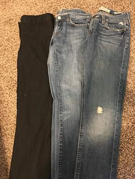 ad jeans and dress pants