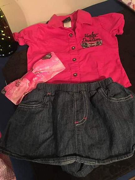 ad harley davidson toddler outfit