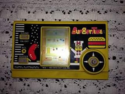 ad 1982 burgertime vintage handheld video game