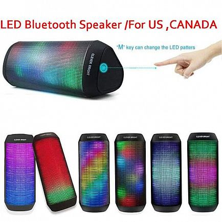 ad bluetooth speaker led