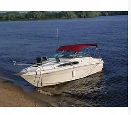 ad 1988 sea ray sundancer 270 - this auction in 2 hours