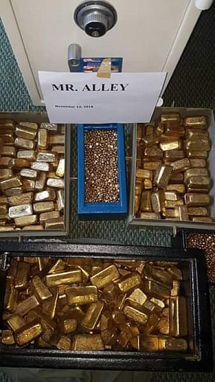 ad gold bars and nuggets