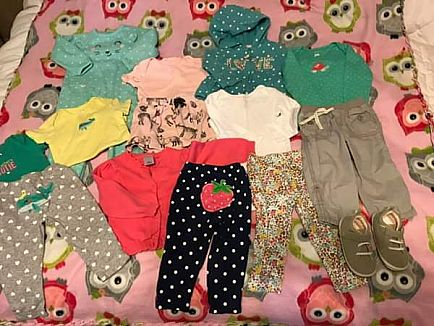 ad 12 month clothing lot