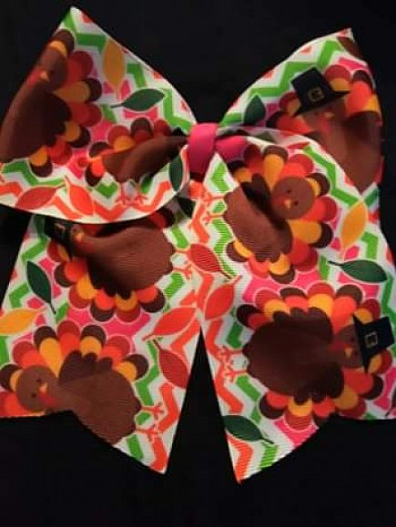 ad thanksgiving turkey hair bows