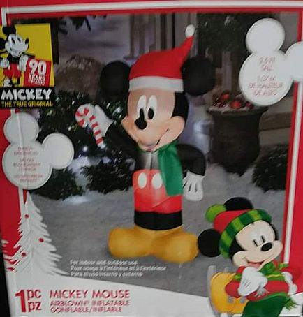 ad brand new christmas projector and inflatable mickey n minnie set
