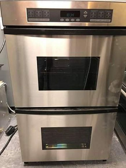 "ad dacor 30"" stainless steel double oven with convection"