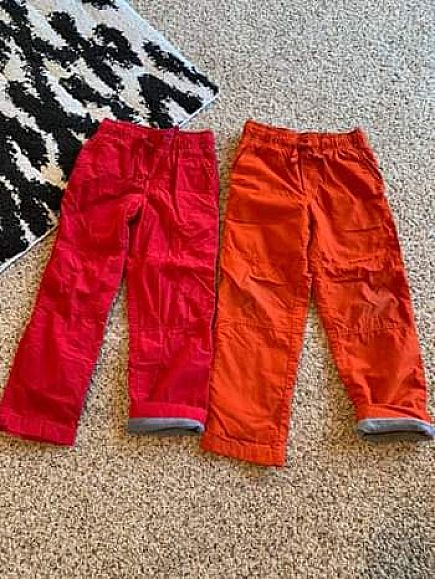 ad boys winter pull up pants, size 6